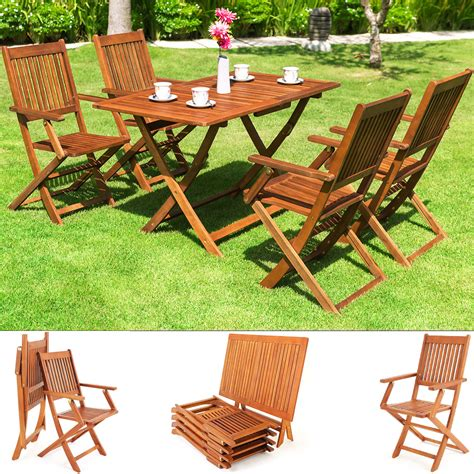 Outdoor Furniture Ebay Nsw by Garden Table Chairs Set Sydney Of Acacia Wood Sitting