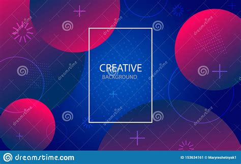 Abstract Background With Geometric Gradient Circle Design