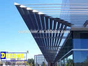 exterior aluminum sun breaker as curtain wall