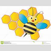 Bee cartoon wit...