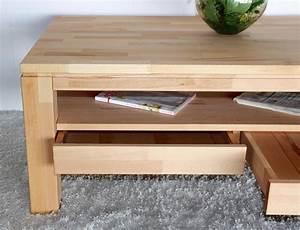 Schublade Selber Bauen : couchtisch wohnzimmertisch mit schublade 115x70 massiv holz kernbuche ge lt ~ Sanjose-hotels-ca.com Haus und Dekorationen