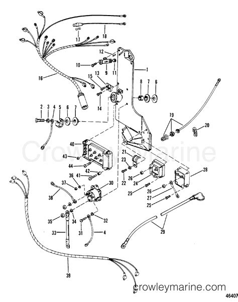 Mercury Solenoid Wiring by Wiring Harness Starter Solenoid And Rectifier 1986