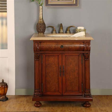 led lighted single sink bath vanity  travertine
