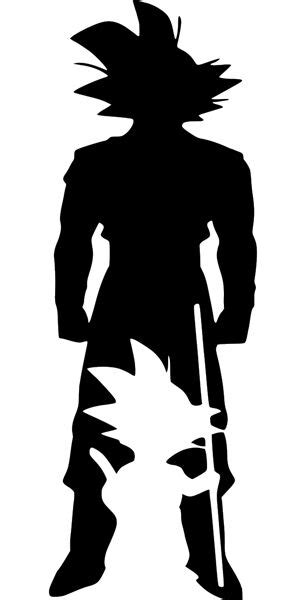 kid goku dragon ball  goku silhouette decal wall car
