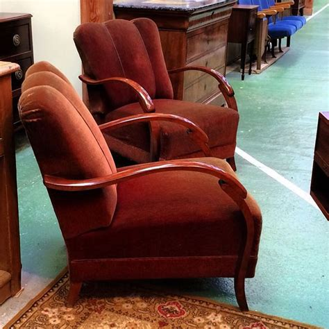 pair of 30 s arm chair paire de fauteuils bridge des