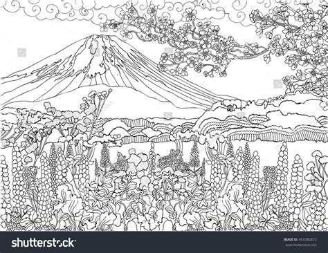 mountain landscape coloring pages goodmorningwishes