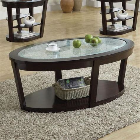 crackle glass table acme furniture crackle glass coffee table w lower shelf 2978