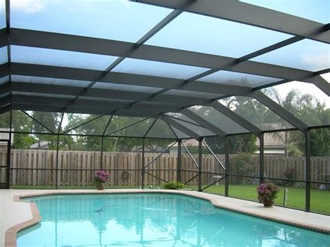 screen patio pool enclosure  tropical pool