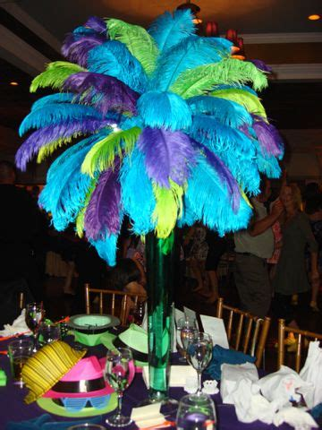 buy sweet 16 centerpiece peacock purple and turquoise wedding centerpieces trend in