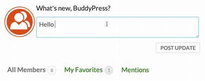 Mentions Buddypress Revamped Interface