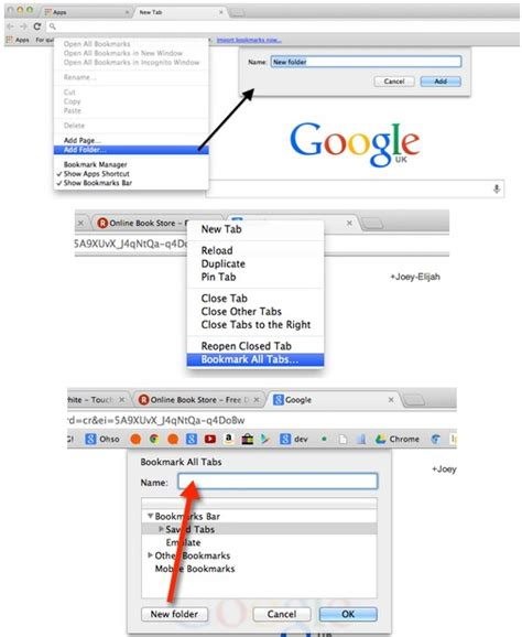 save chrome tab tabs restore bookmark folder groups bookmarks later location open trick quick