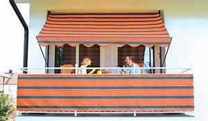 angerer freizeitmobel klemmmarkise orange braun With markise balkon mit tapete türkis braun gestreift