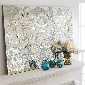 Floral Capiz Mosaic Wall Panel Mirror Tiles Indonesia