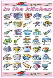 kitchen utensilsequipment worksheets