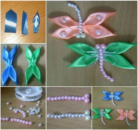 satin ribbon craft ideas satin ribbon dragonfly crafty 5364
