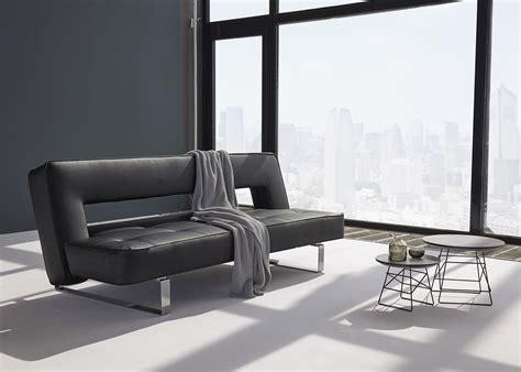 canape en cuir design canapé en simili cuir avec piètement chromé ultra design