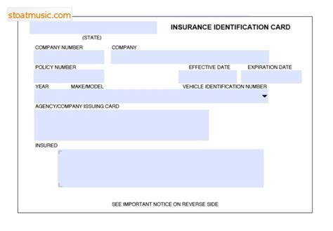 Fake Insurance Card Template - stoatmusic.com