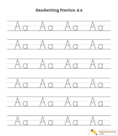 handwriting practice letter a free handwriting practice