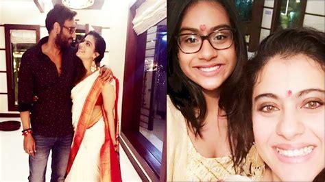 actress kajol husband photos actress kajol family photos with husband daughter nysa