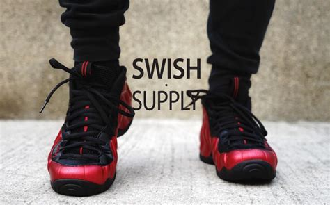 feet images nike air foamposite pro university red