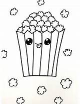 Popcorn Coloring Freebie Easy Tpt sketch template