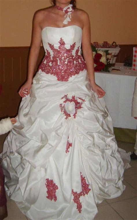robe pour mariage framboise robe de mari 233 e ivoire et framboise avec jupon offert