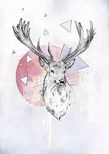 deer art   art   Pinterest   Paintings tumblr, Deer skull ...