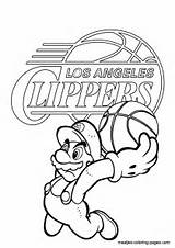 Coloring Clippers Angeles Los Pages Print Nba Again Bar Looking Case Don Find sketch template