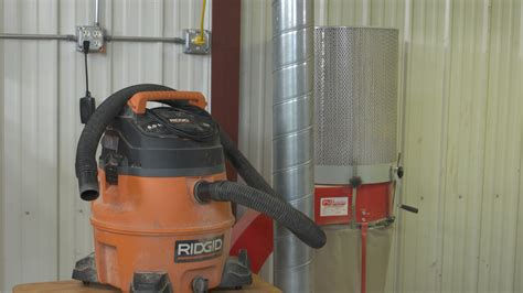 woodshop dust collection shop vacuum  dust collector