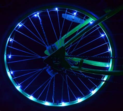 Wheel Lights by Led Bicycle Wheel Lights Blue Kit Both Wheels Safety