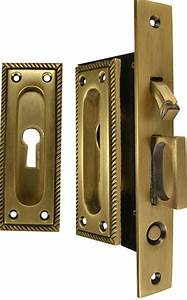 Georgian Square Pattern Single Pocket Privacy  Lock  Style
