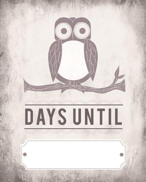 owl count  calendar blank template printable tip