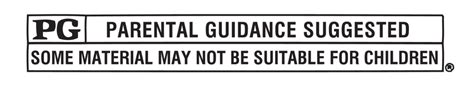 Rated PG Parental Guidance Suggested Logo
