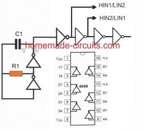 Simplest Full Bridge Inverter Circuit Homemade