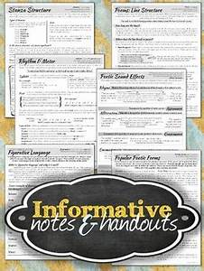Poetry Elements Structural Elements Of Poetry Unit Notes Worksheets By