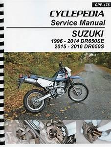 Suzuki Dr650se    Dr650s Service Manual  1996