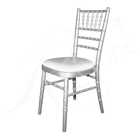 silver chiavari chair with choice of seat pad