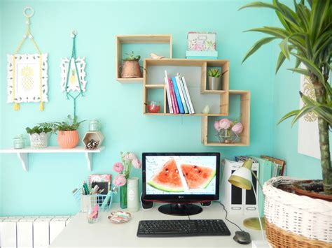 decoration de bureau maison déco bureau turquoise