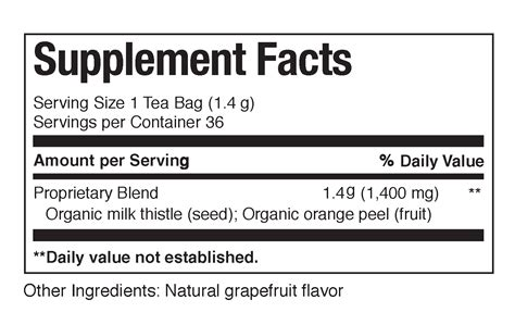 Organic Milk Thistle Superherb Tea Bags The Republic Of Tea