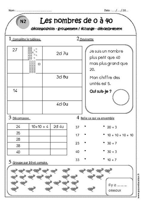 nombres de    ce exercices decomposition