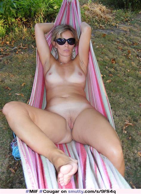 Milf Cougar Sunbathing Glasses Tanlines Hangmath