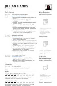 resume for journalist student resume exles for journalists bestsellerbookdb