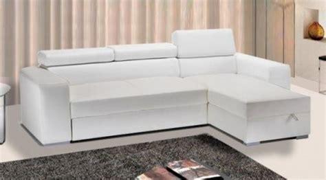 Divano Letto Angolare 250 Cm : Divano Letto In Ecopelle Rosa Moderno Bianco Con Vano