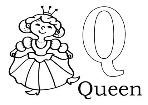 Q Is For Queen Coloring Page Pages