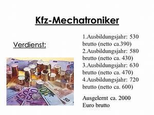 Monatslohn Berechnen : verdienst als kfz mechatroniker reparatur von autoersatzteilen ~ Themetempest.com Abrechnung