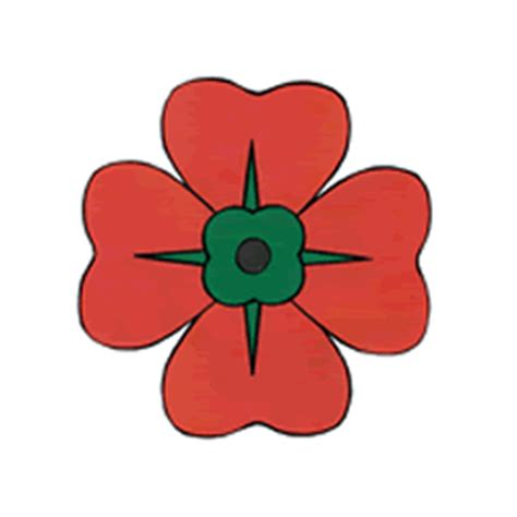 remembrance day poppy paper craft instructions