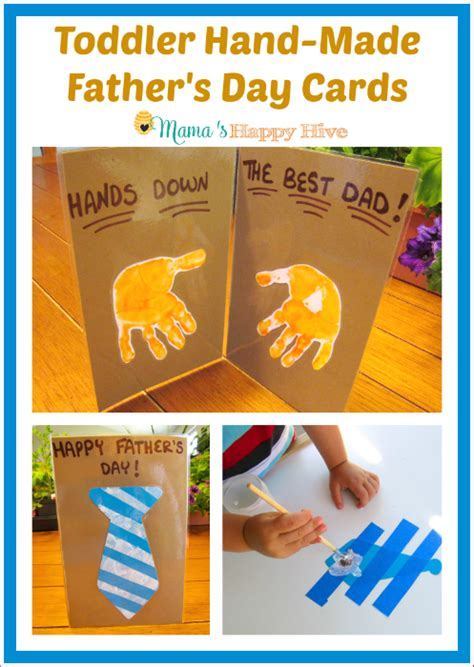 toddler made s day cards s happy hive 925 | Toddler Hand Made Fathers Day Cards www.mamashappyhive.com