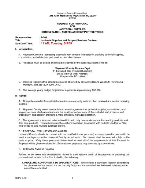 construction request  proposal template  piece