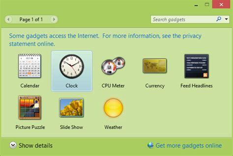 gadgets bureau windows 8 desktop gadget pack for windows 8 1