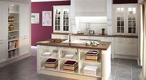 cuisine blanche With modeles de cuisines amenagees